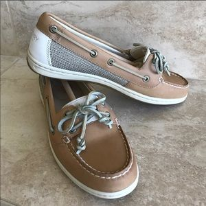Sperry Top Sider core linen/oat boat shoes